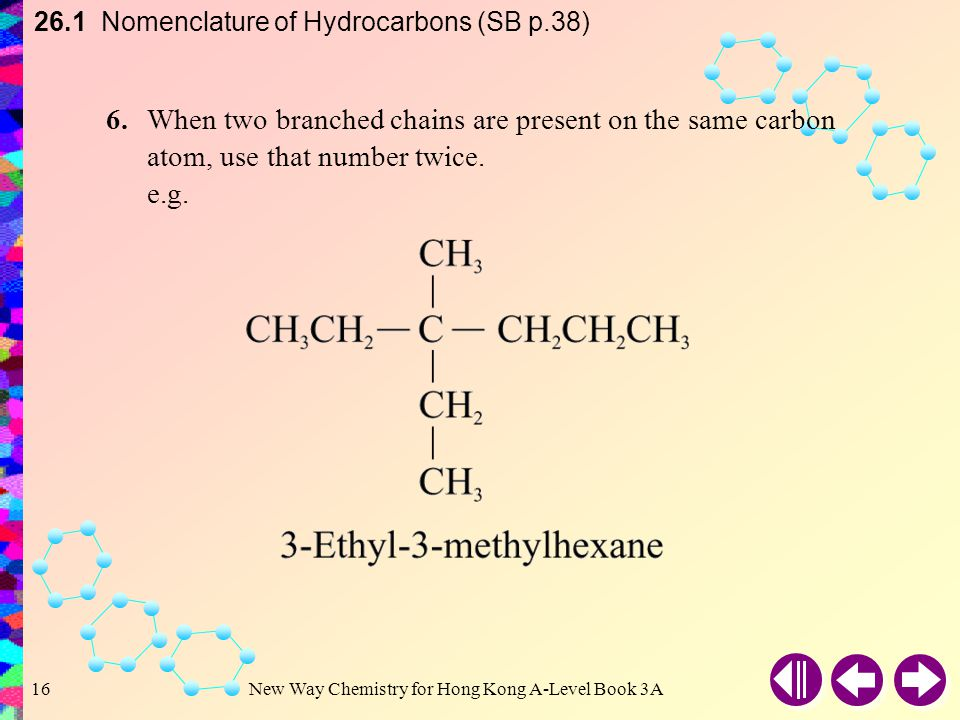 26.1 Nomenclature of Hydrocarbons (SB p.38)