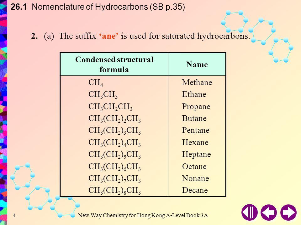 Condensed structural formula