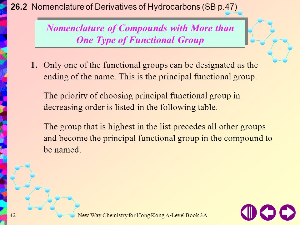 Nomenclature of Compounds with More than One Type of Functional Group