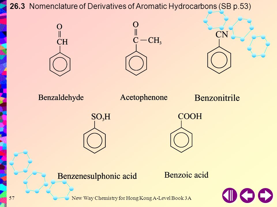 26.3 Nomenclature of Derivatives of Aromatic Hydrocarbons (SB p.53)