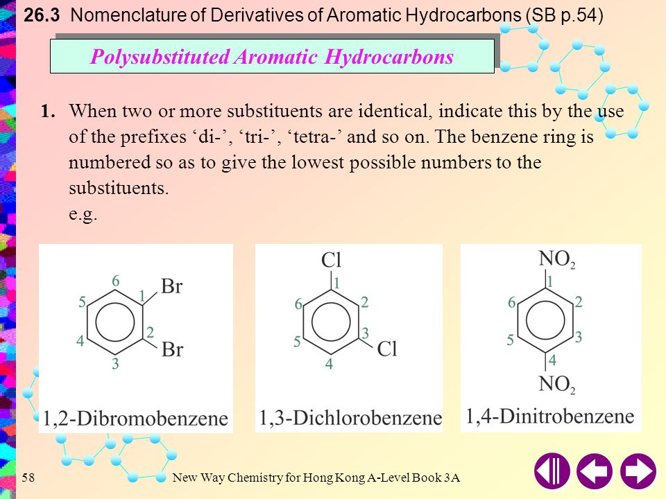 Polysubstituted Aromatic Hydrocarbons