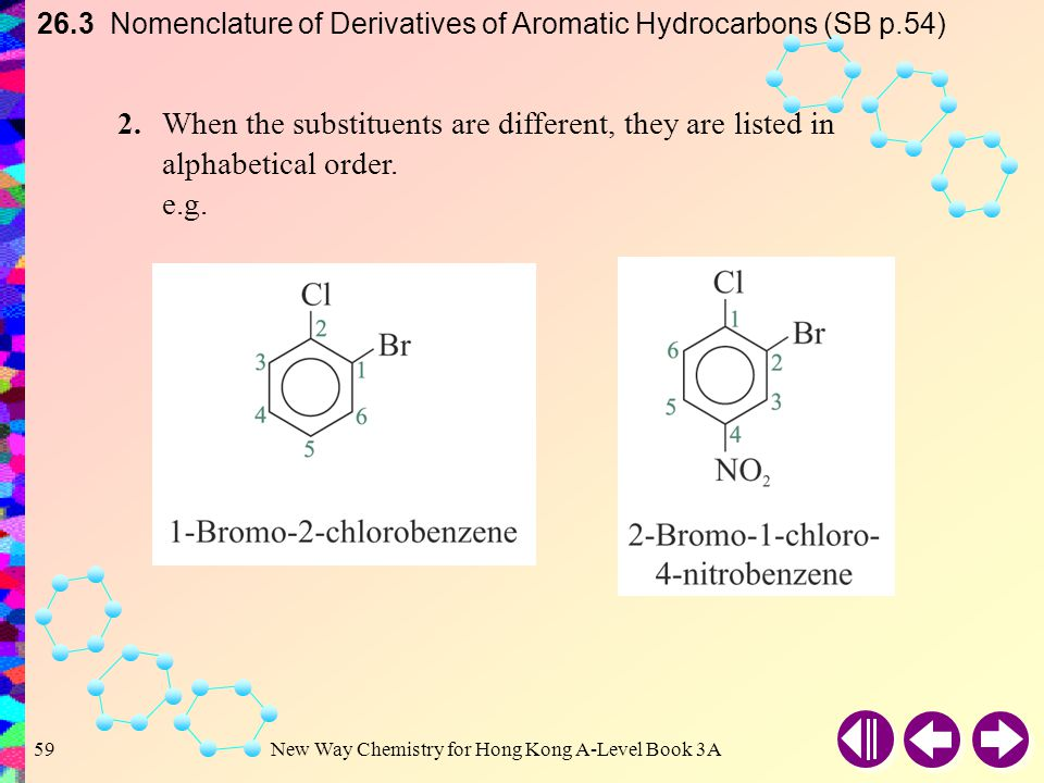 26.3 Nomenclature of Derivatives of Aromatic Hydrocarbons (SB p.54)