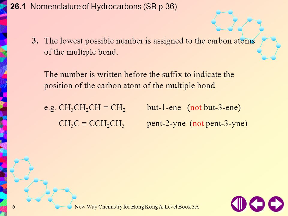 26.1 Nomenclature of Hydrocarbons (SB p.36)