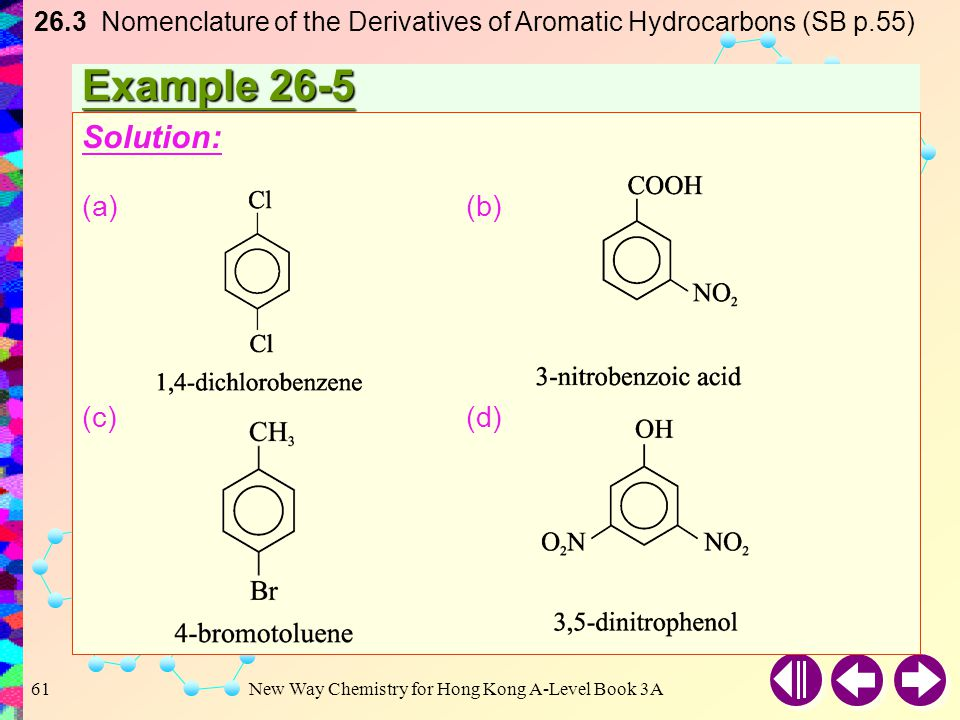 26. 3 Nomenclature of the Derivatives of Aromatic Hydrocarbons (SB p