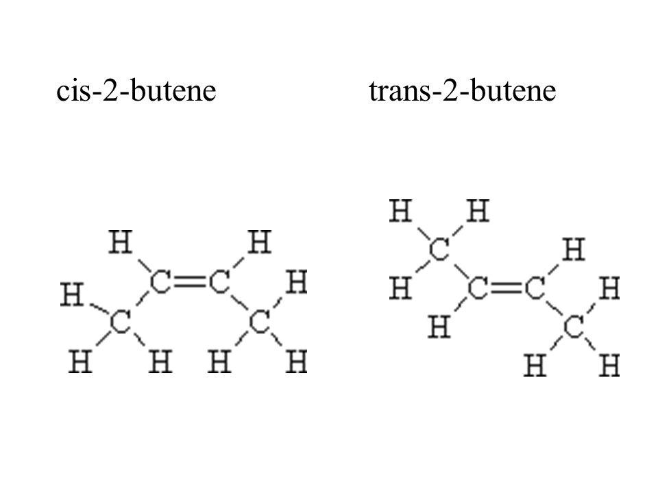 cis-2-butene trans-2-butene