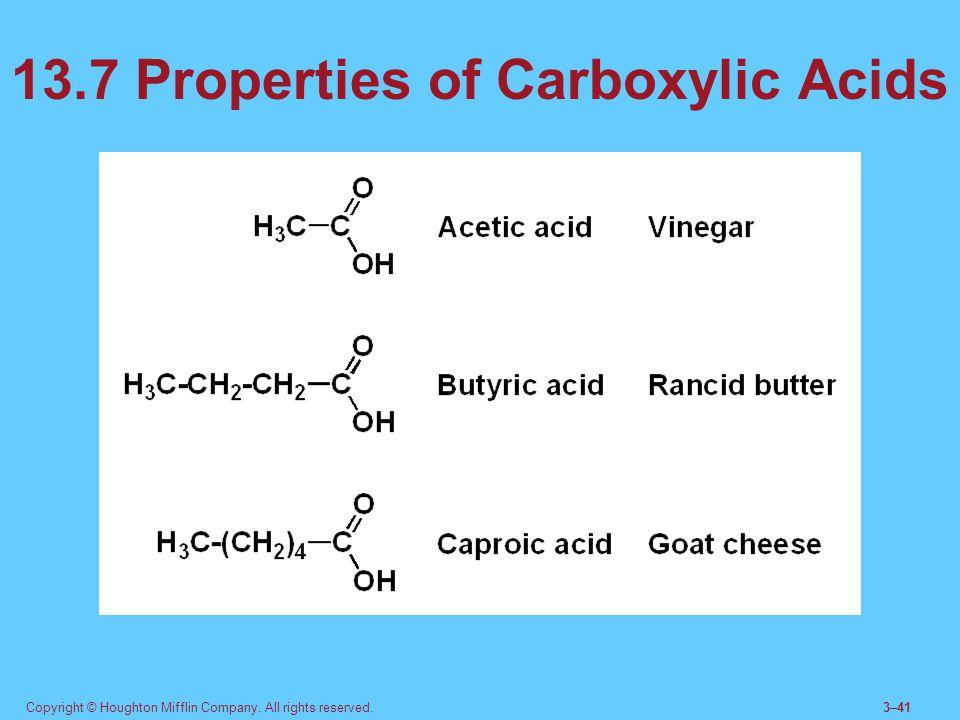 13.7 Properties of Carboxylic Acids