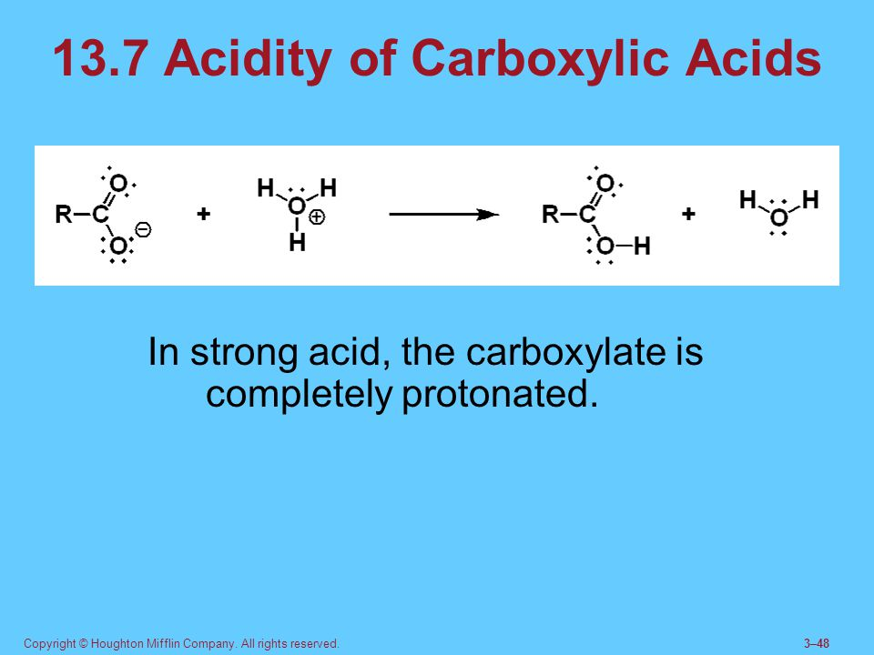 13.7 Acidity of Carboxylic Acids