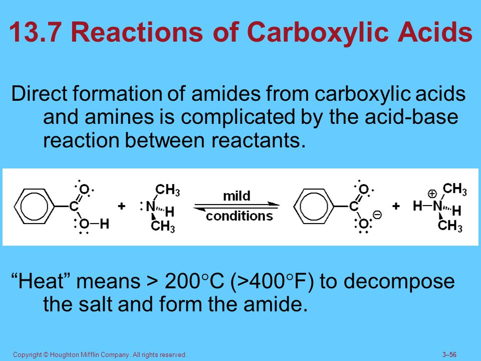13.7 Reactions of Carboxylic Acids