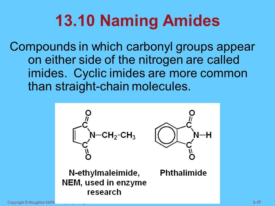 13.10 Naming Amides