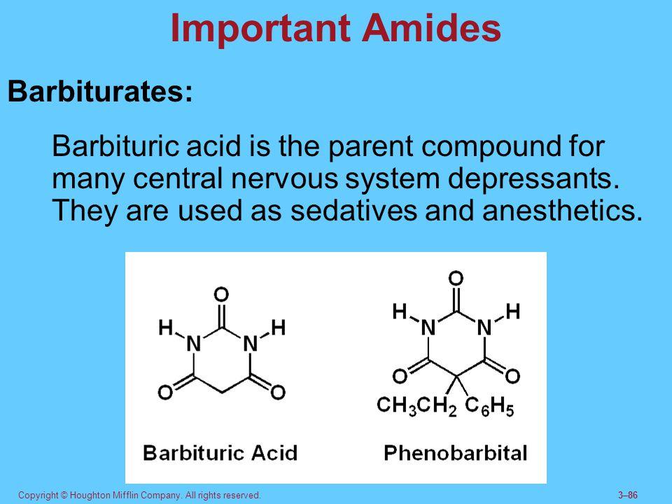 Important Amides Barbiturates: