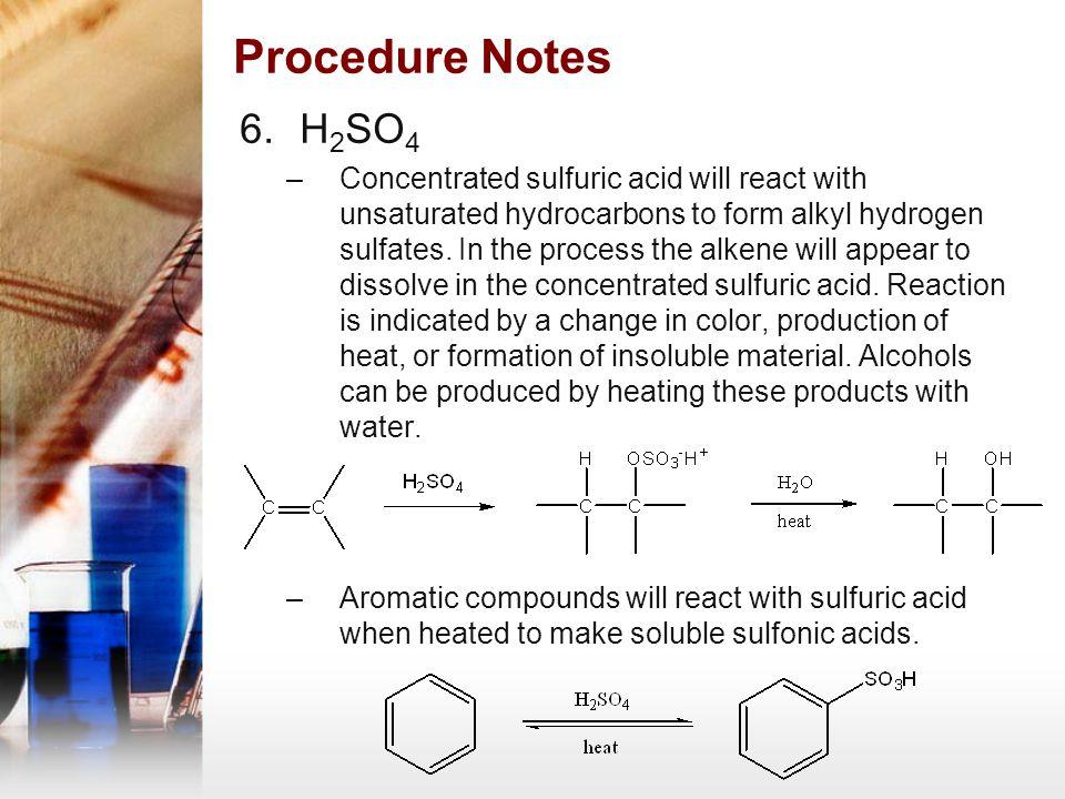 Procedure Notes H2SO4.
