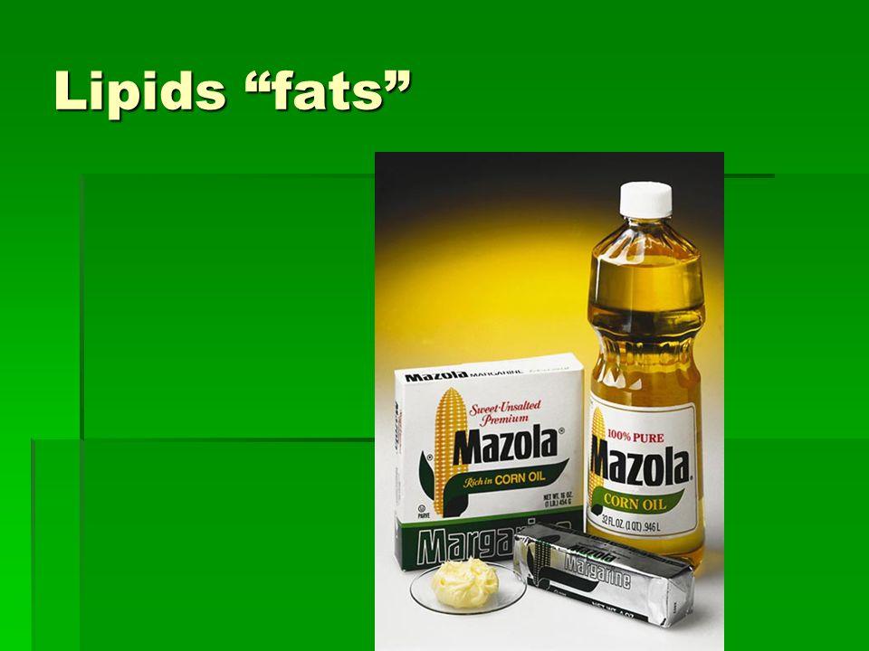 Lipids fats