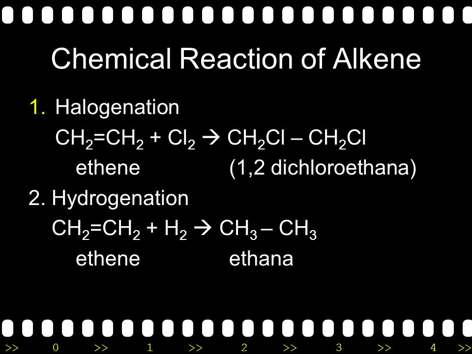 Chemical Reaction of Alkene