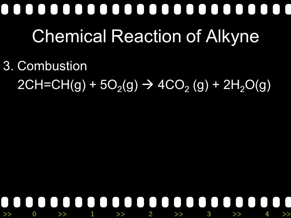 Chemical Reaction of Alkyne