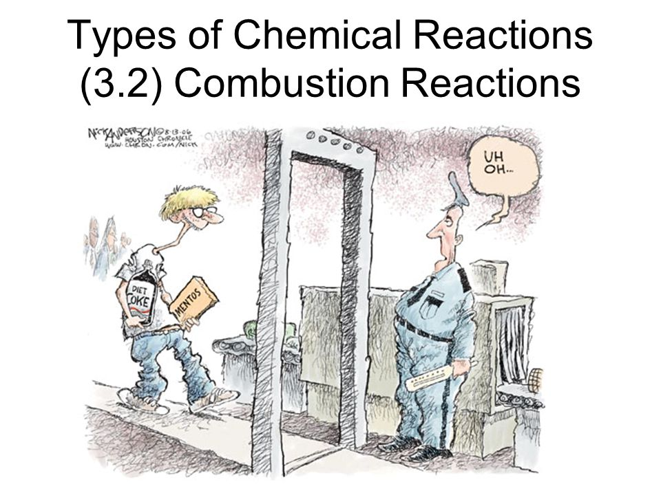 Types of Chemical Reactions (3.2) Combustion Reactions