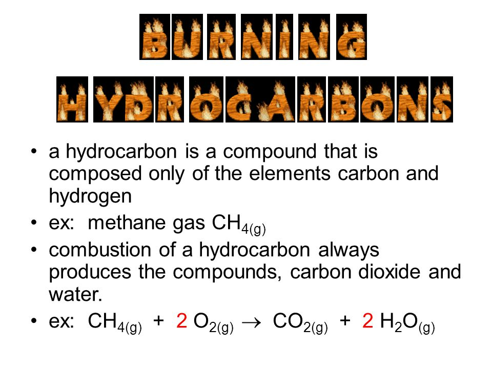 a hydrocarbon is a compound that is composed only of the elements carbon and hydrogen