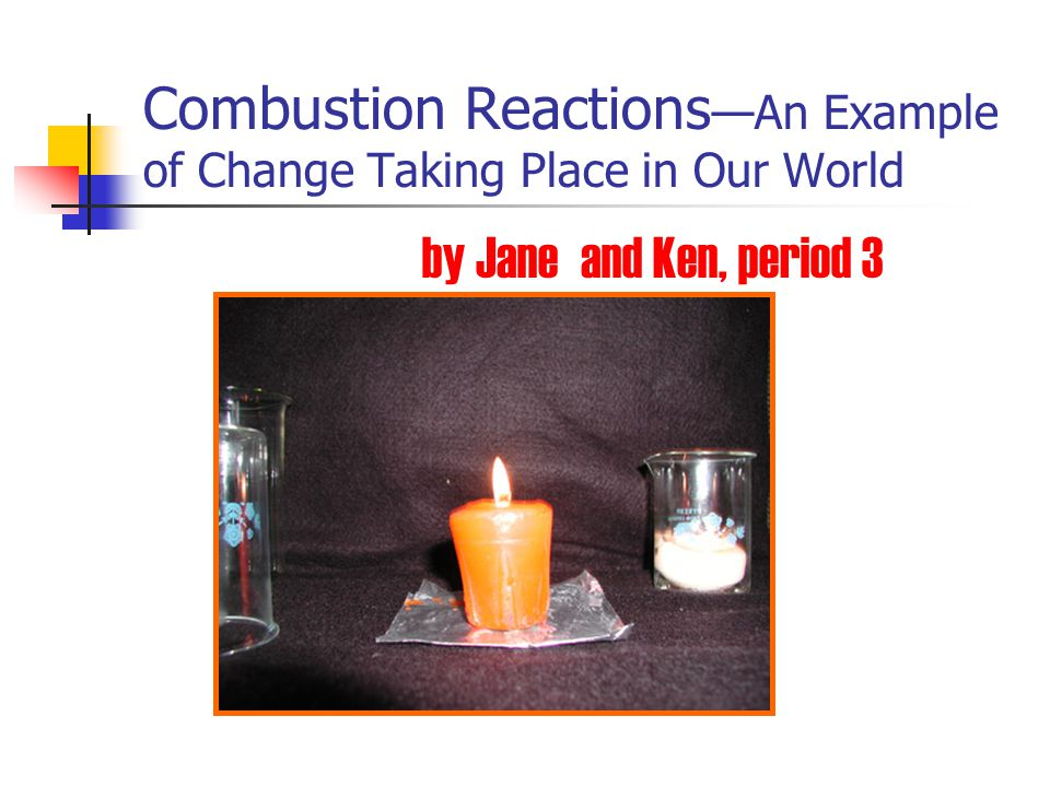 Combustion Reactions—An Example of Change Taking Place in Our World