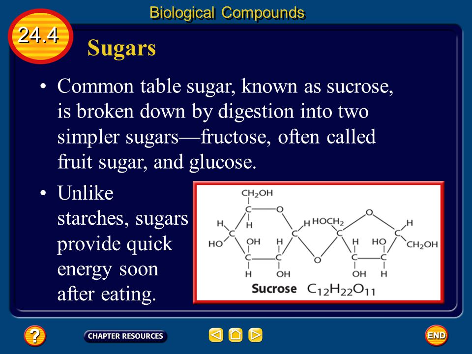 Biological Compounds 24.4. Sugars.