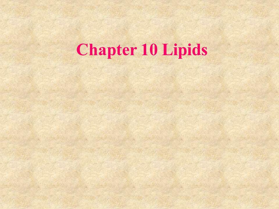 Chapter 10 Lipids