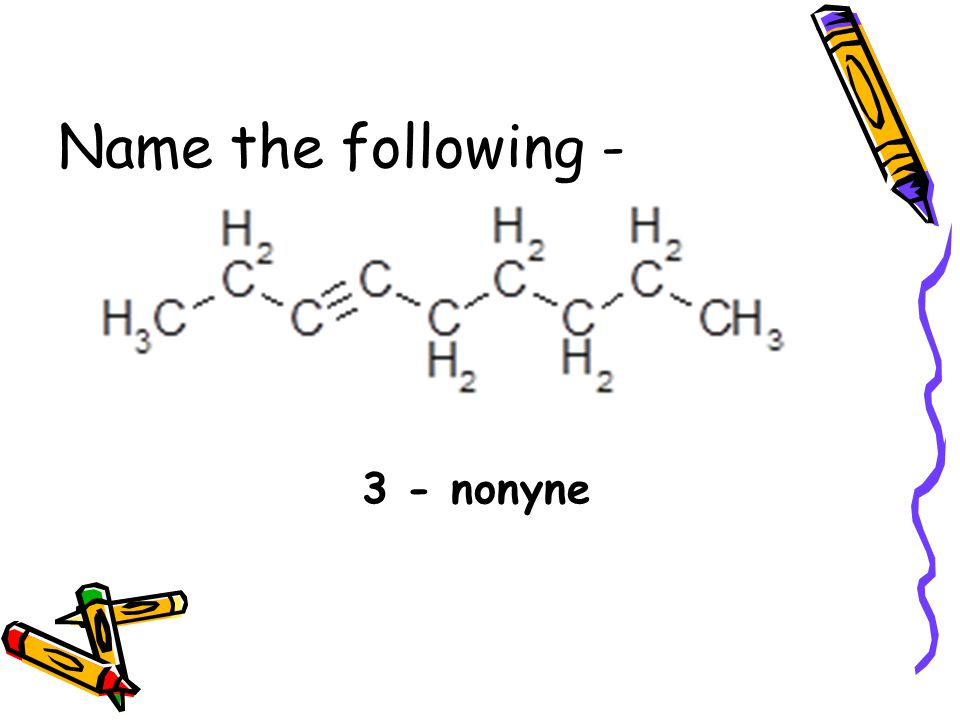 Name the following - 3 - nonyne