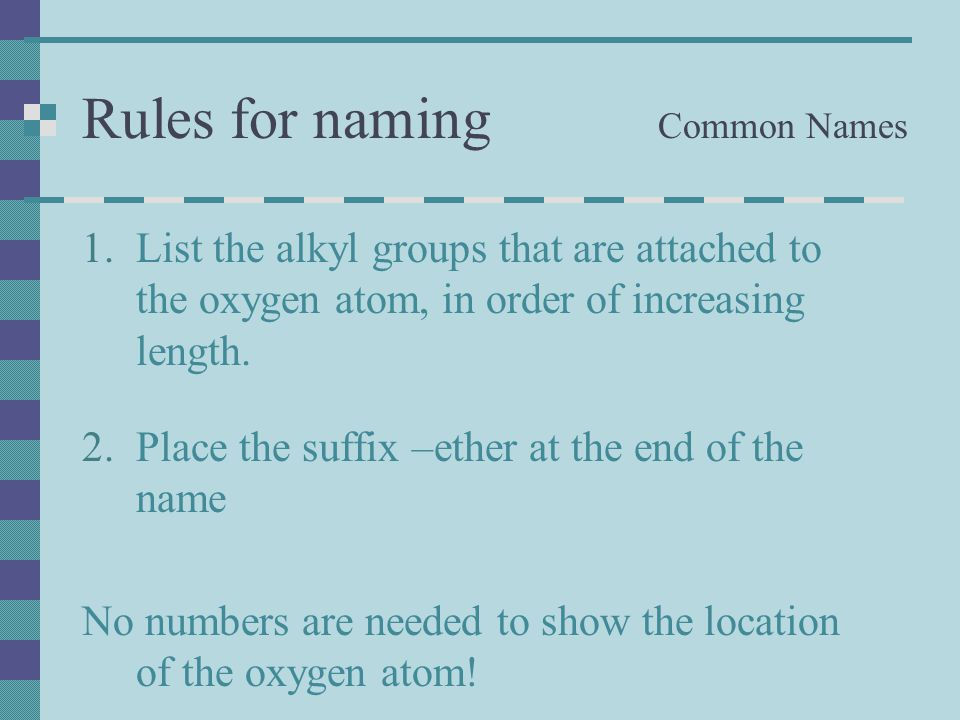 Rules for naming Common Names