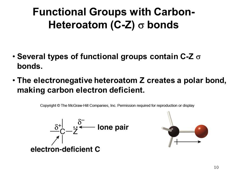 Functional Groups with Carbon-Heteroatom (C-Z)  bonds