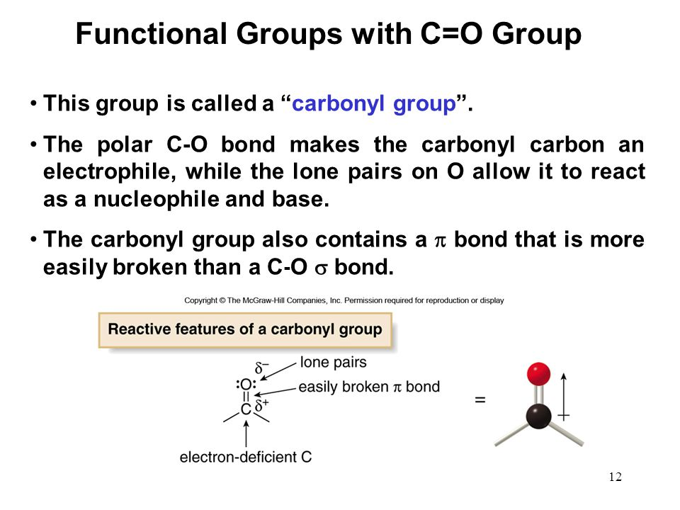 Functional Groups with C=O Group