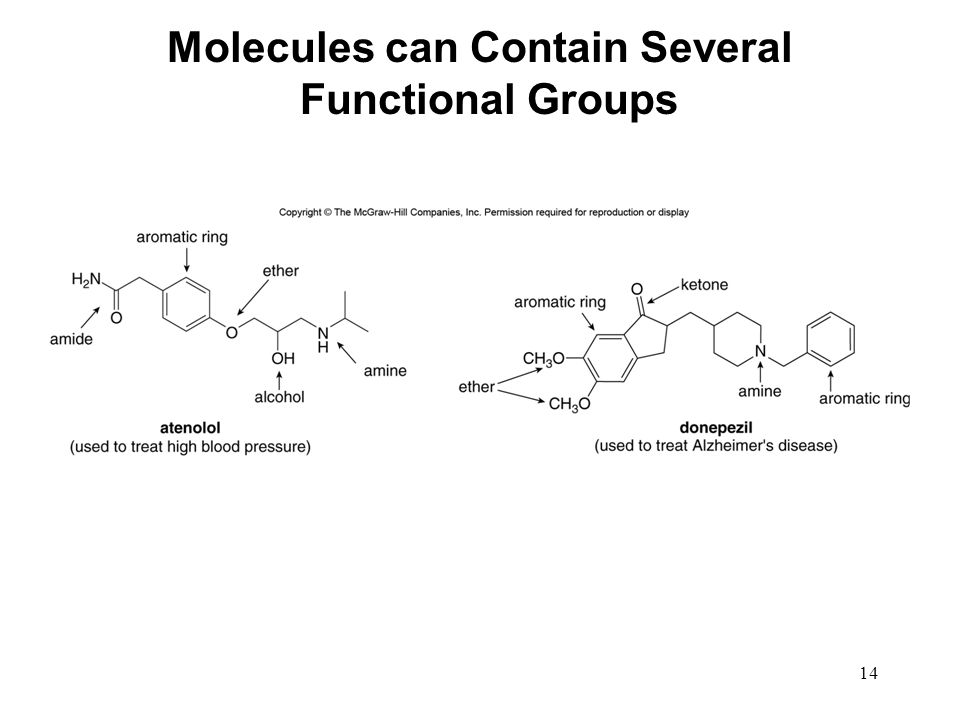 Molecules can Contain Several Functional Groups