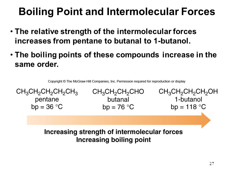 Boiling Point and Intermolecular Forces