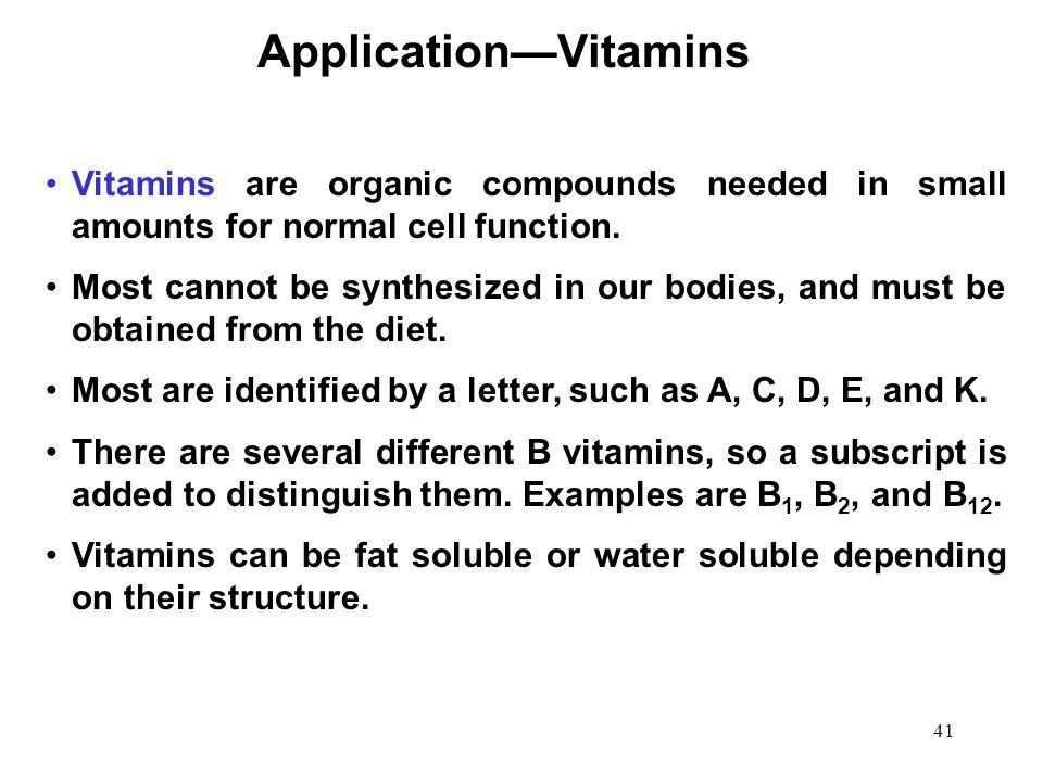 Application—Vitamins