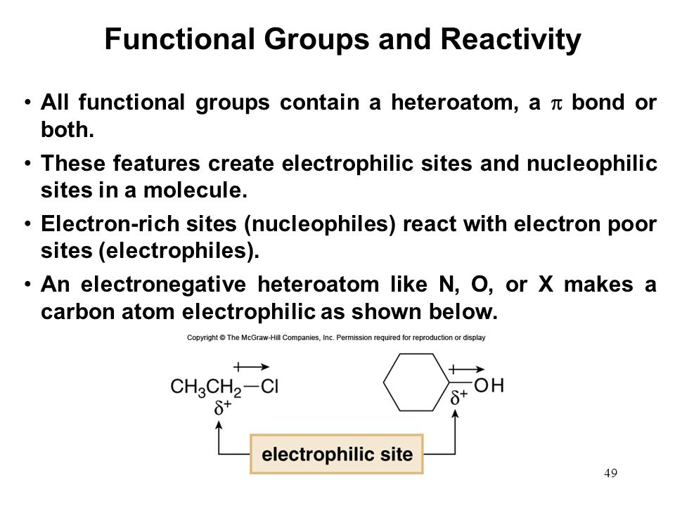 Functional Groups and Reactivity