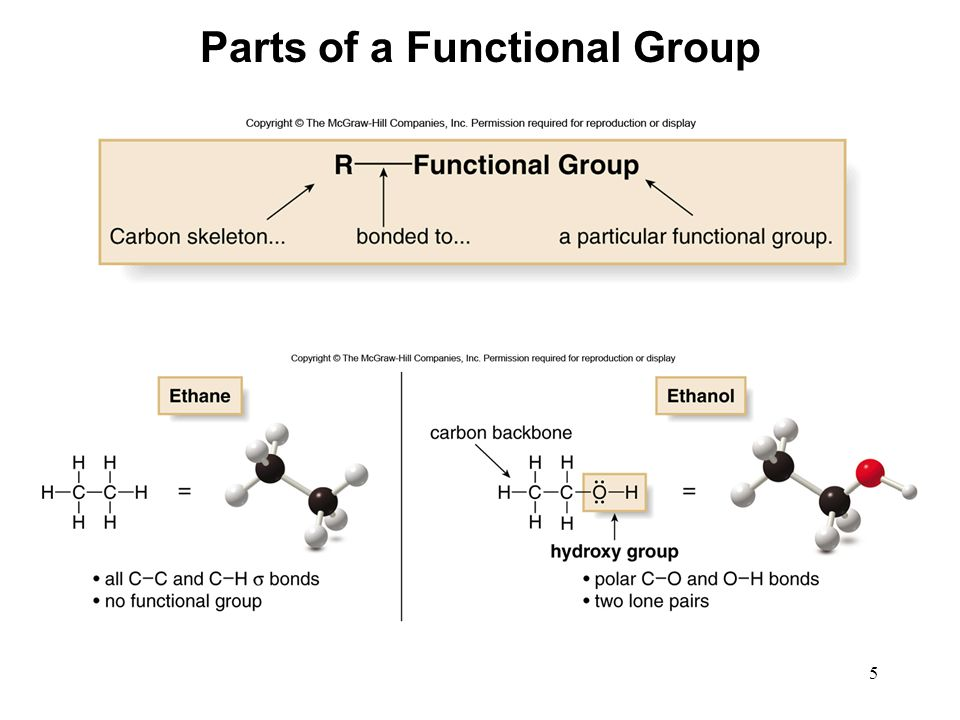 Parts of a Functional Group