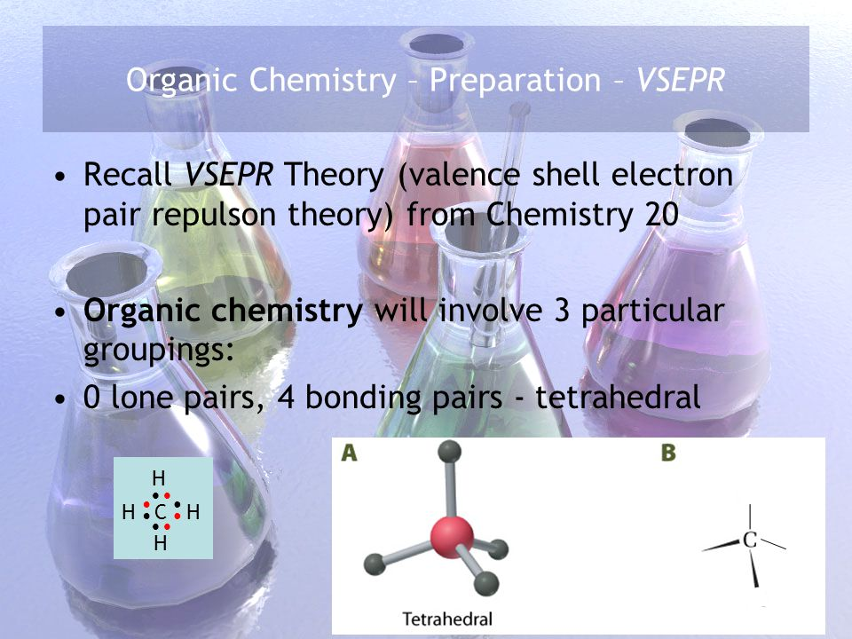 Organic Chemistry – Preparation – VSEPR