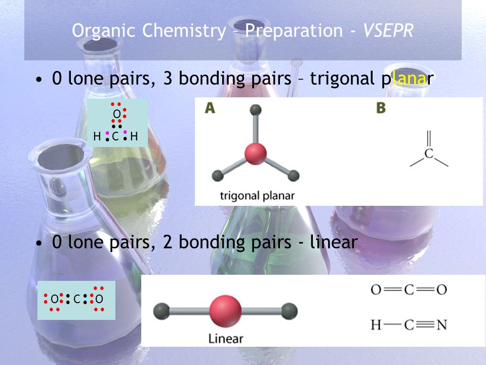 Organic Chemistry – Preparation - VSEPR