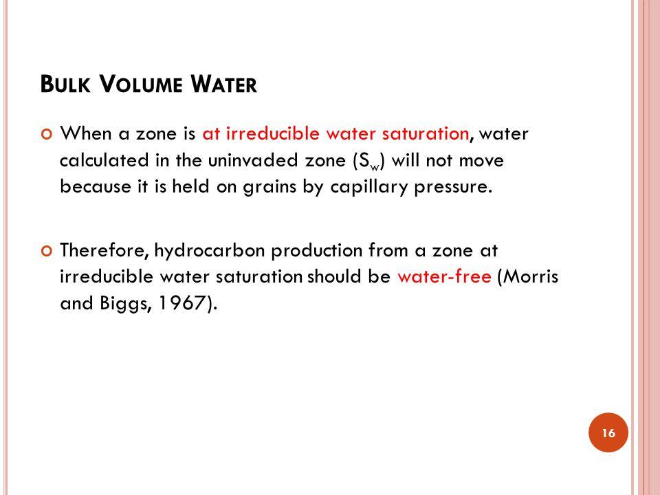 Bulk Volume Water
