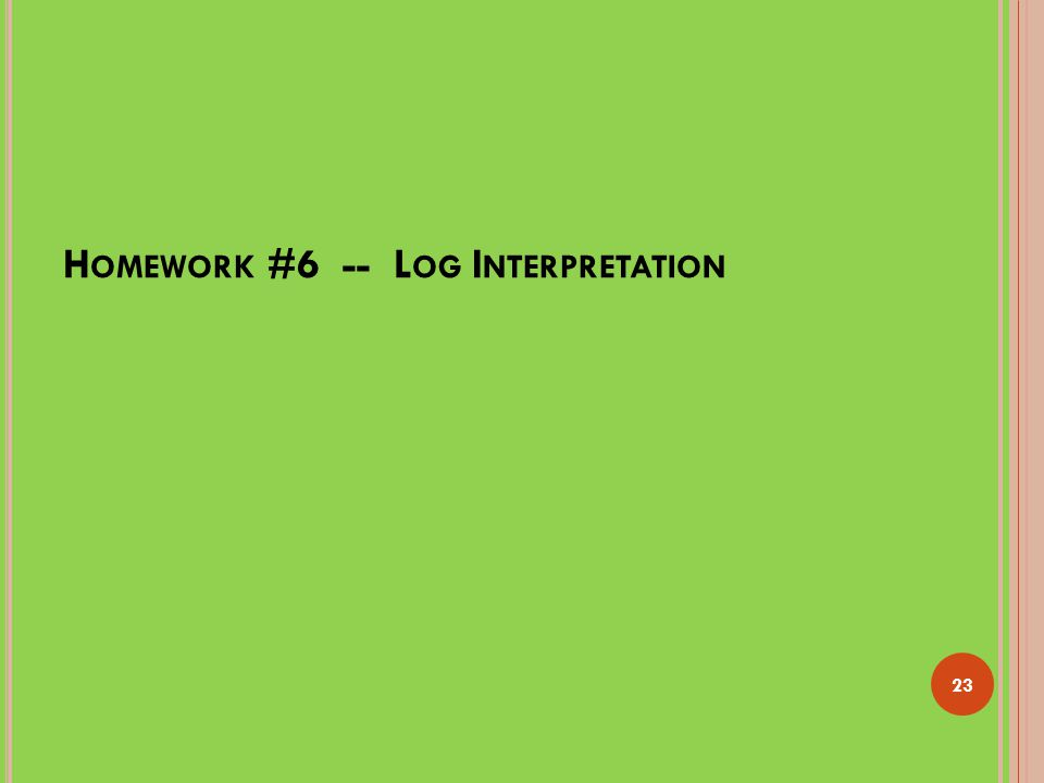 Homework #6 -- Log Interpretation