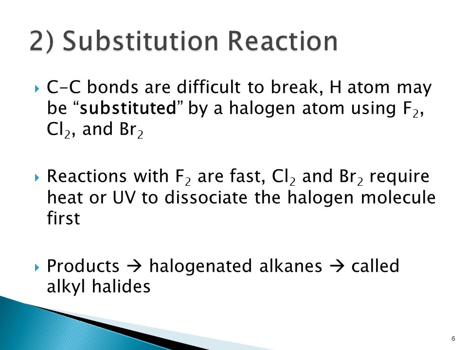 2) Substitution Reaction