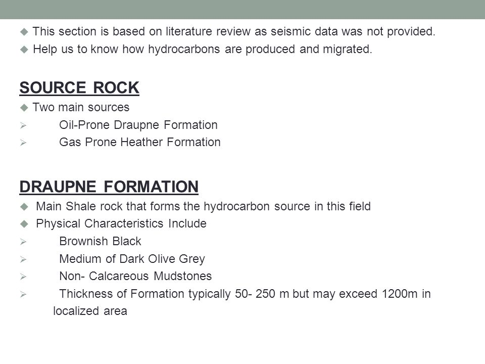 SOURCE ROCK DRAUPNE FORMATION