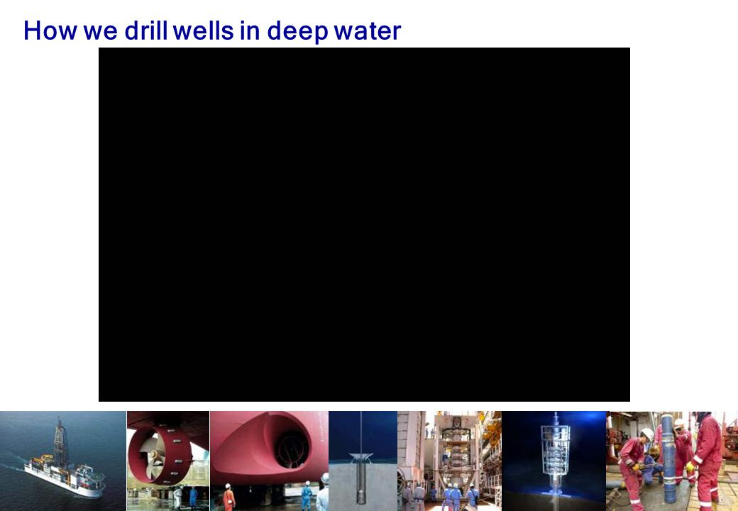 How we drill wells in deep water