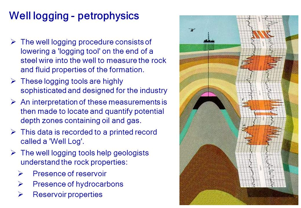 Well logging - petrophysics