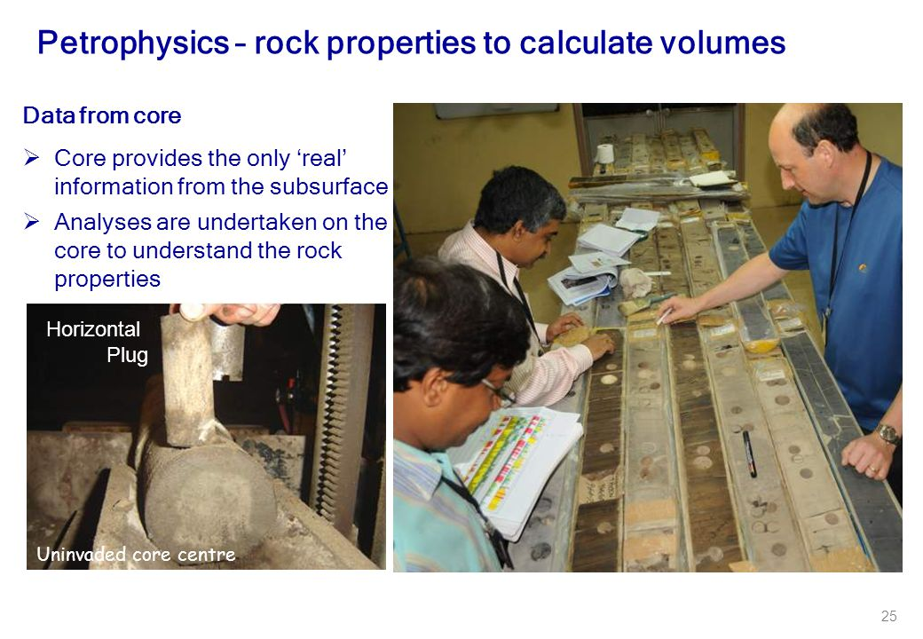 Petrophysics – rock properties to calculate volumes
