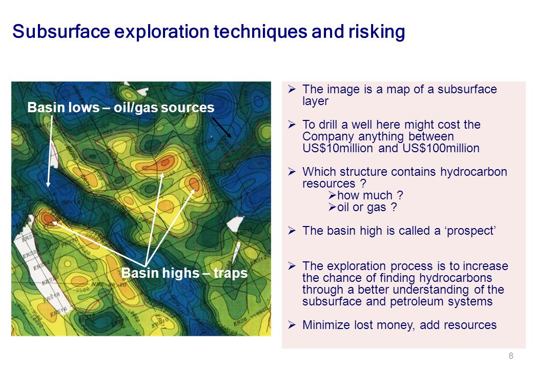 Subsurface exploration techniques and risking