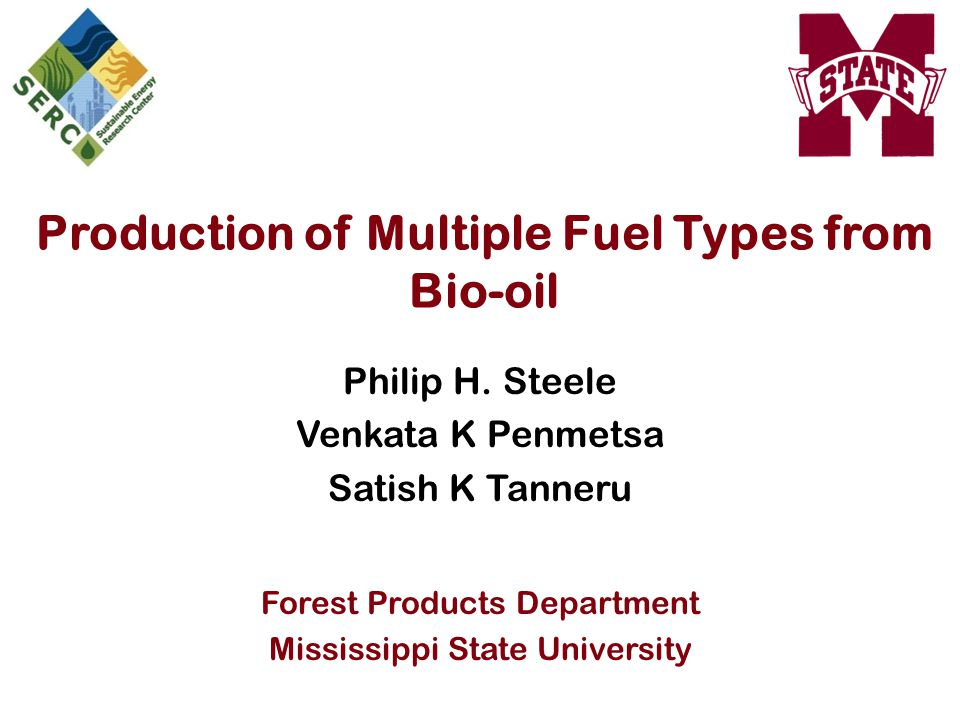 Production of Multiple Fuel Types from Bio-oil