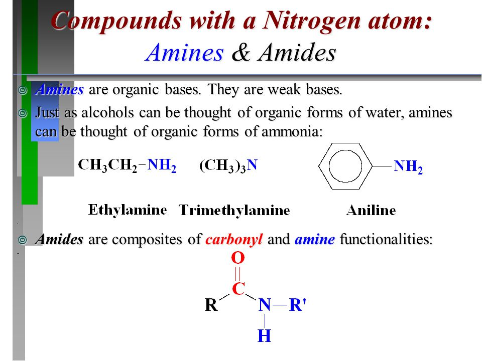 Compounds with a Nitrogen atom: