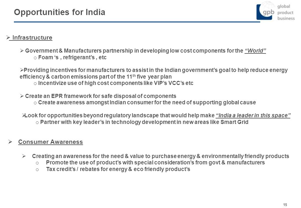 Opportunities for India