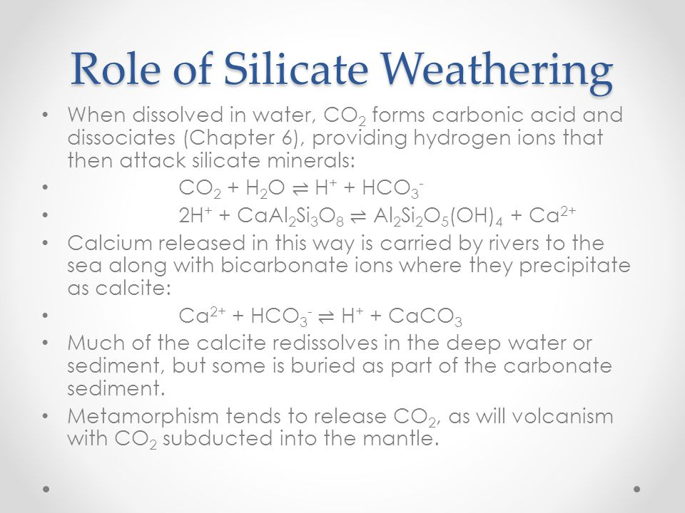 Role of Silicate Weathering