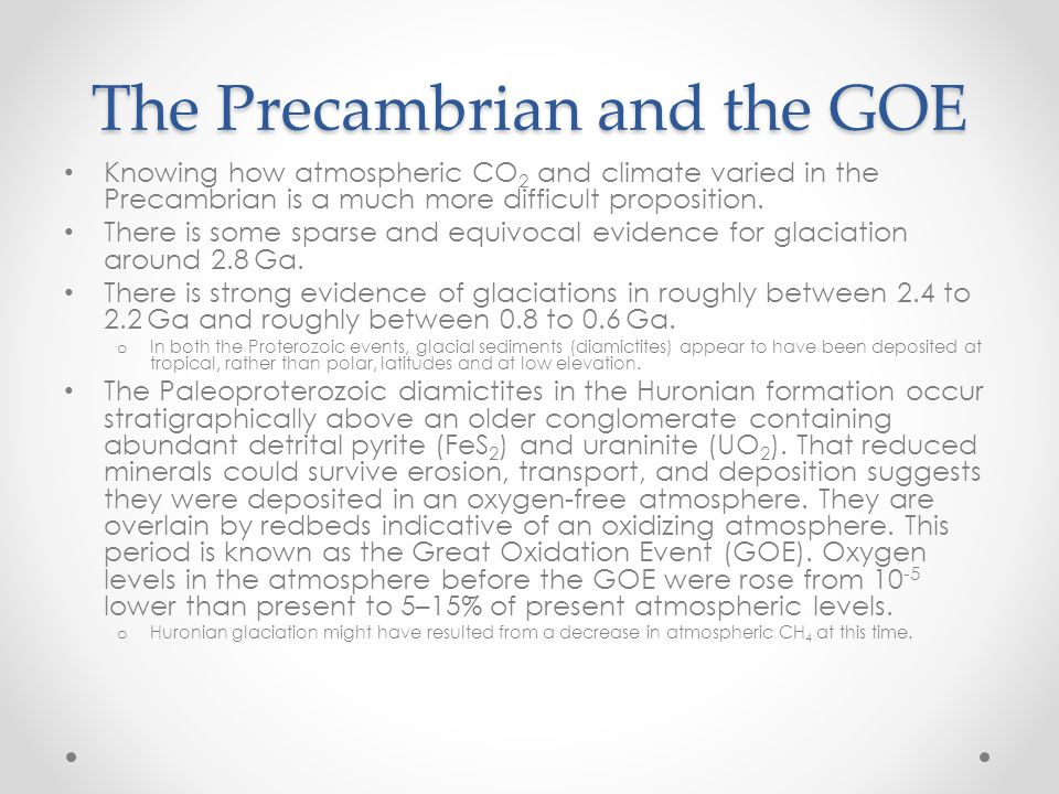 The Precambrian and the GOE