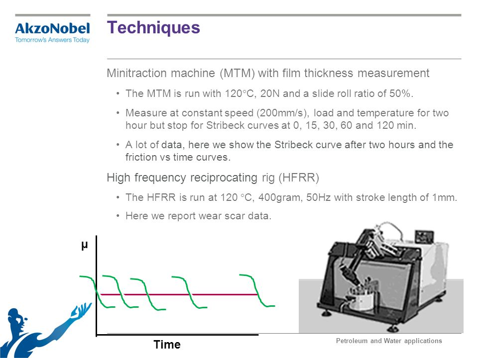 Techniques Minitraction machine (MTM) with film thickness measurement