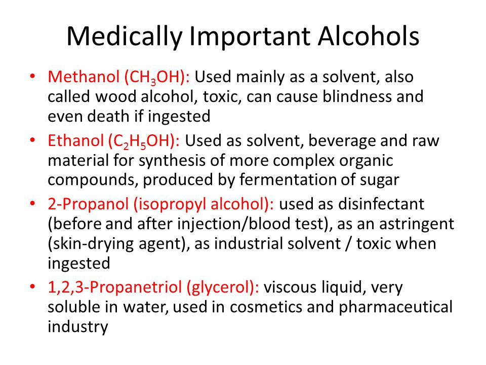 Medically Important Alcohols