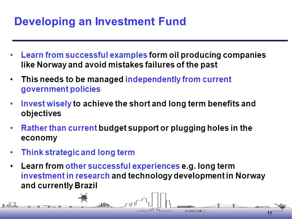 Developing an Investment Fund